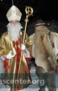 Sankt Nikolaus with Krampuses and Buitenmandl.