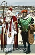 Sinterklaas at Bondi Beach.