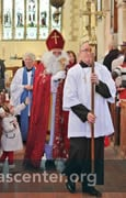 St Nicholas processes at the beginning of the service