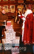 Street theatre with St Nicholas explaining who he is with gifts representing what we receive from God and give one another