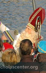 Saint Nicholas arriving on the Wivenhoe Quay