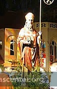 Saint Nicolas presides over the festivities