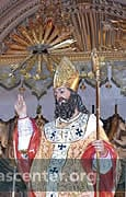 The church statue of St. Nicholas (wood, 1737) processes around the statue in the square and back into the church