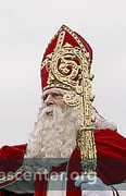 Sinterklaas waves to the crowds