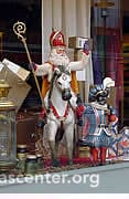 Sinterklaas in a shop window