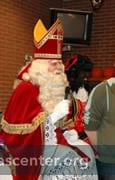Sint Nicolaas talks to pupils in assembly