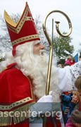 Sint greets children