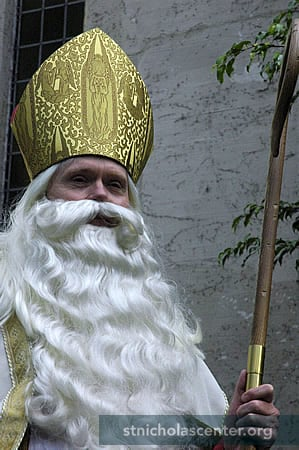 This is Hollywood—a professional actor portrays Saint Nicholas!