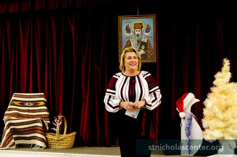 Telling about Saint Nicholas—that he was a real person who loved people and helped others, especially poor children