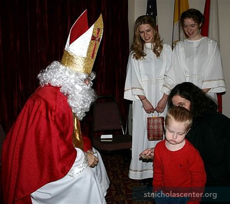 Not everyone is pleased to receive a holy card, even if it is of St. Nicholas!