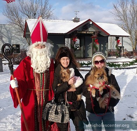 St. Nicholas at the blessing of the animals