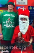 St. Nick and elves with three-year-old preschoolers