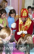 St. Nicholas giving gold coins