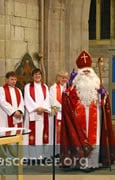 St Nicholas arrives, joining diocesan priests