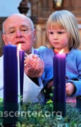 Children took an active role in the service: lighting the Advent wreath, reading lessons, offering the paryers of the people, and taking up the offering