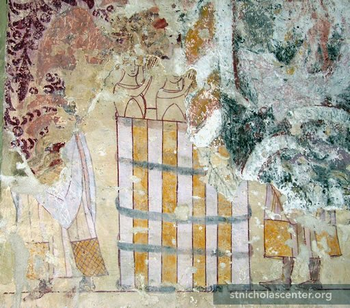"Photo; © Roger Rosewell, <a href=""http://www.wallpaintings.org/"" target=""new"">Medieval Wall Paintings</a> Used by permisison"