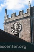 Tower, with one-hand clock, has a ring of ten bells