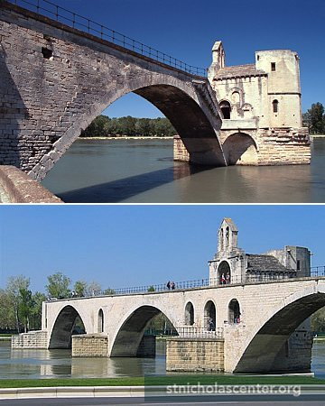 Image result for inside the two-story Saint Nicolas Chapel, avignon bridge