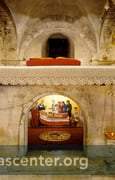 St. Nicholas tomb under the altar in the crypt