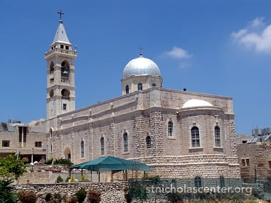 St Nicolas Church was hit by Israeli missiles and heavy artilery in December 2000