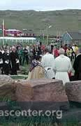 Millennium service celebrating 1000 years of Christianity in Greenland, July 2000