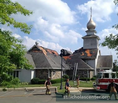 Fire severely damaged the church June 29, 2013