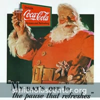 Jolly Santa with Coke