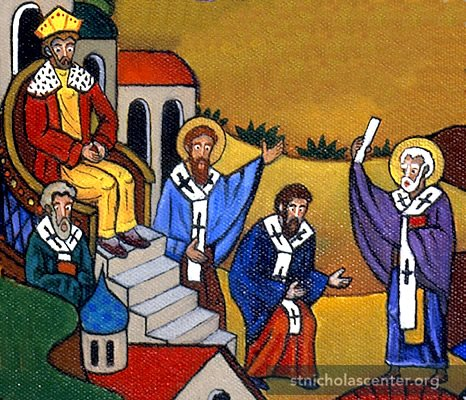 arius and the council of nicaea on debate on the unity of the holy trinity The council of nicaea convened in ad 325 to settle a dispute regarding the  nature of christ arius (a presbyter of alexandria who was the founder of arianism ) argued  we worship one god in trinity, and trinity in unity, neither confounding  the  but the divinity of the father and of the son and of the holy spirit is one, the .