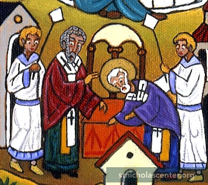 Bishop consecrating Nicholas