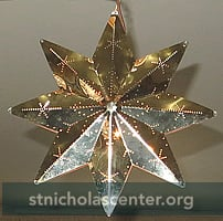 Swedish brass Advent star