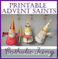 Printable Advent Saints from Catholic Icing