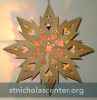 Swedish Wooden Advent Star