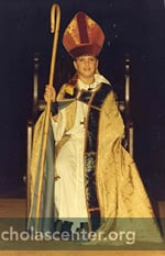 Boy Bishop enthroned