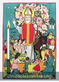 St Nicolas with children