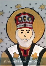 St Nicholas icon painting
