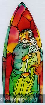 St Nicholas stained glass drawing