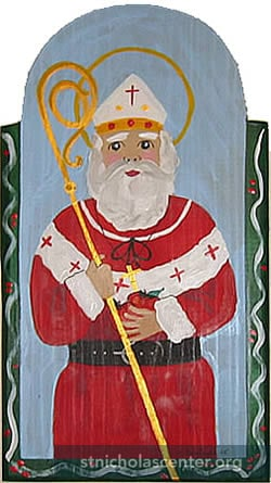St Nicholas with crozier