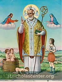St. Nicholas with children from legends