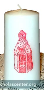 Candle with St. Nicholas image