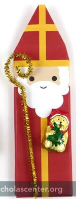 St Nicholas with crozier and teddy bear