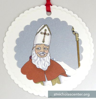 St Nicholas Ornament2 1/2-inch design