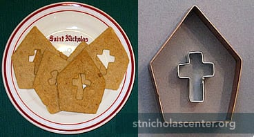 Miter cookie cutter with bonus cross cutter