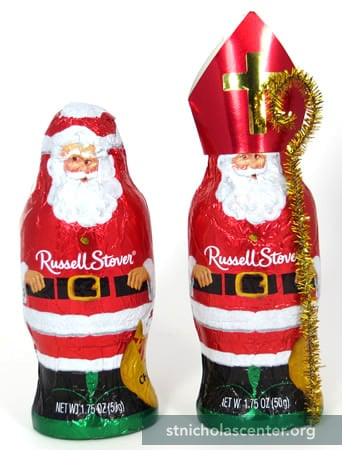 Russell Stover Chocolate Santa into Nicholas