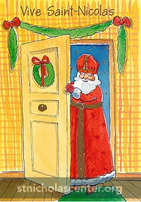 St Nicolas coming in door
