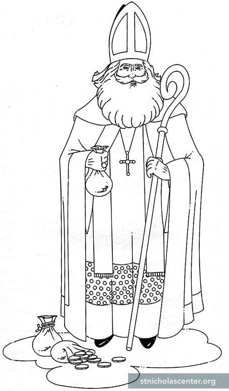 saint nicholas coloring pages - st nicholas center clip art
