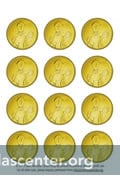 Smart image pertaining to gold coin template printable