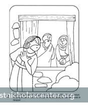 click for pdf st nicholas coloring picture
