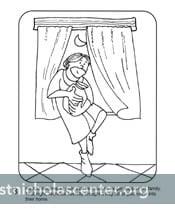 st nicholas coloring picture