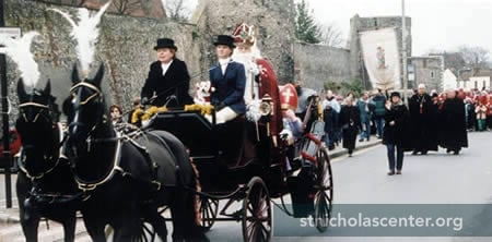 St Nicholas in horse-drawn cart