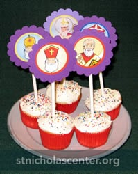 St. Nicholas Cupcake Toppers